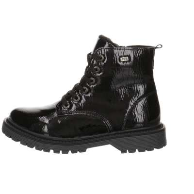 LURCHI Girls Ankle Boots Lined Laced Zipped Black Patent 34-41000-31 NOW  £41.50