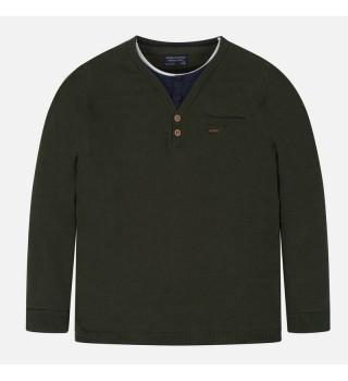 MAYORAL Teens Boys Jumper NUKUTAVAKE Olive 7312-014 NOW £6.95