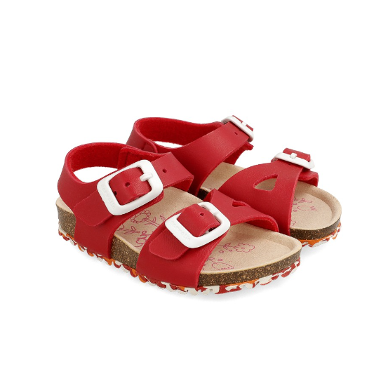 GARVALIN Boys/Girls Sandals Red 202663-A