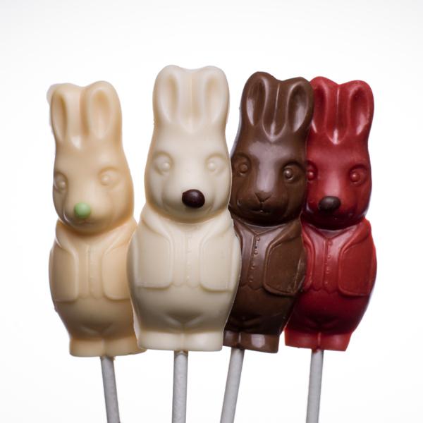 6 st Påskchoklad-kaniner, 3 smaker