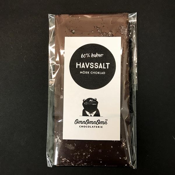 Havssalt – Mörk chokladkaka, 60 % kakao