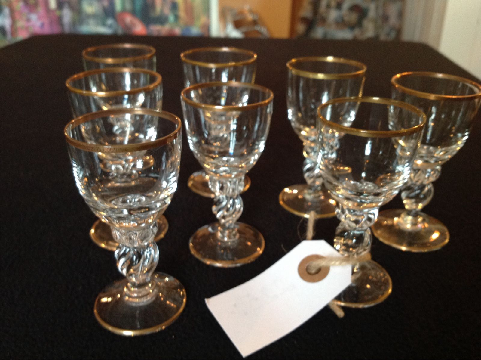 Glas likör 8st (second hand, vintage, retro)