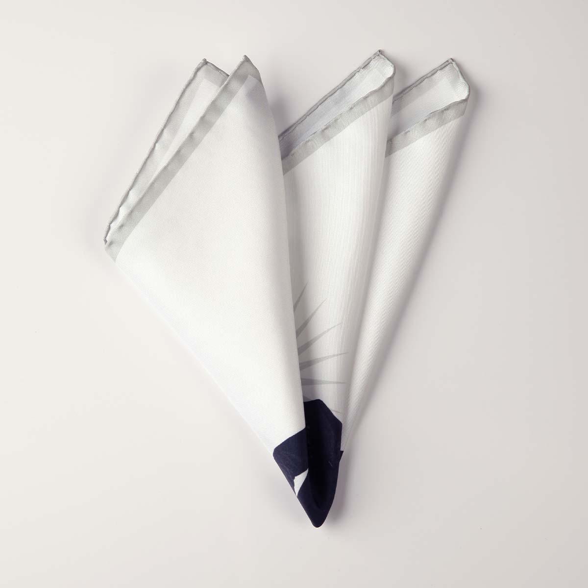 Thomas White Silk Pocket Square (Reg)