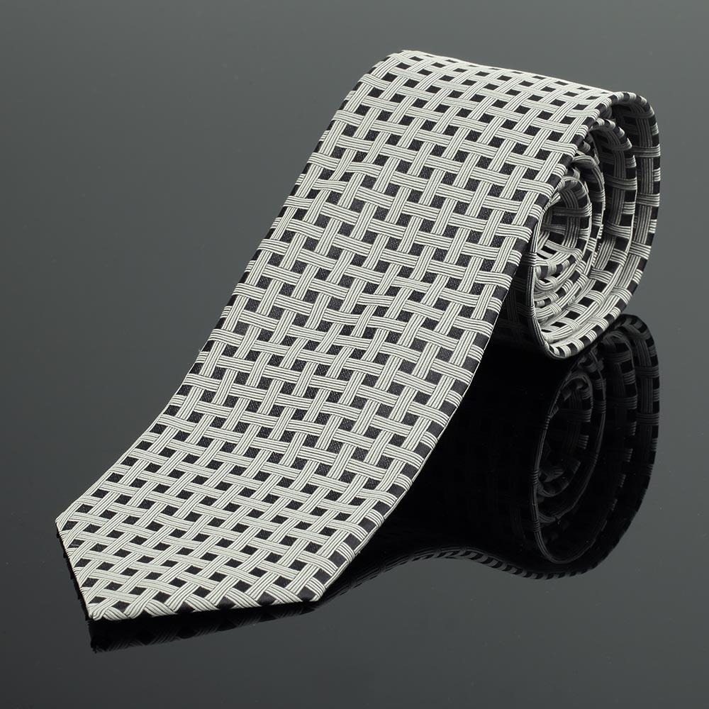 Baker Street Platinum Silk Tie