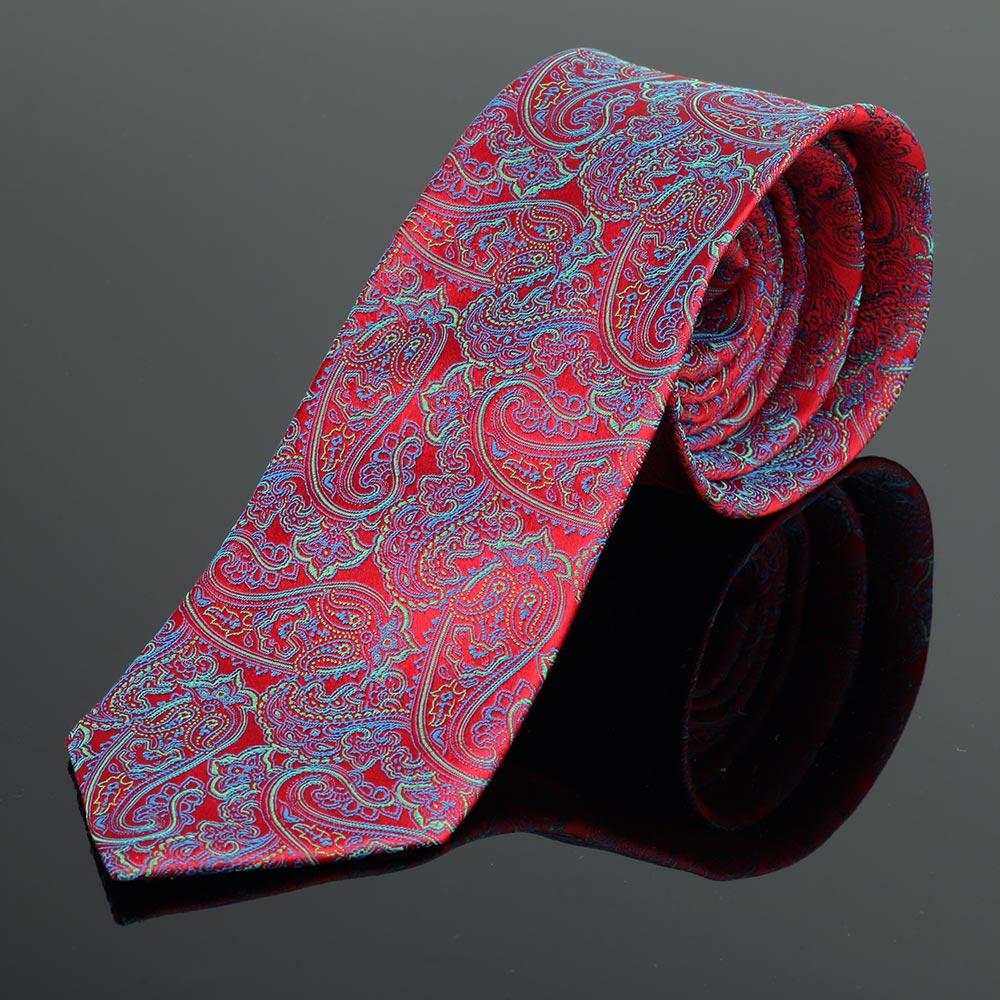 Boston Red Paisley Silk Tie
