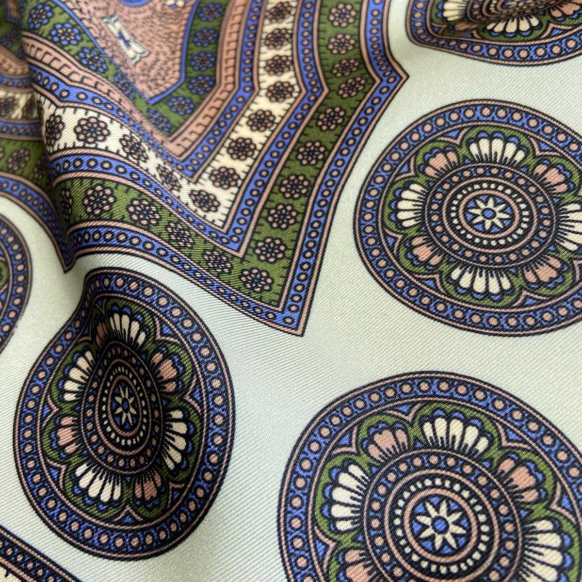 Aztec Mint Silk Pocket Square (Lrg)