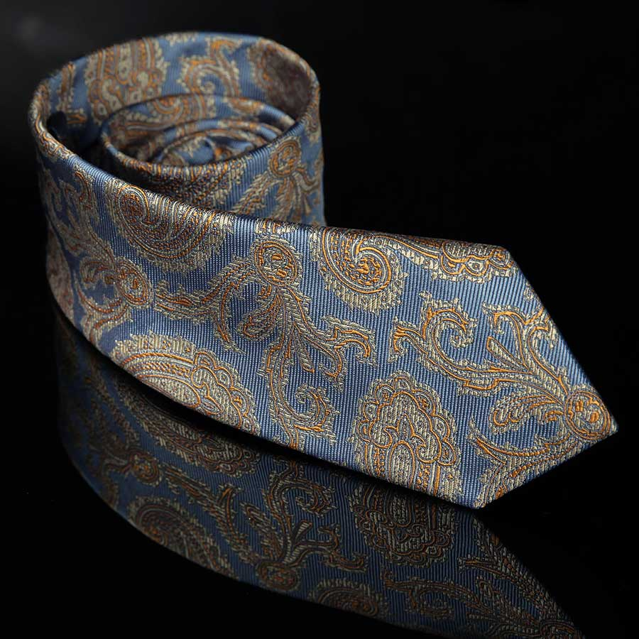 Alford Blue and Gold Paisley