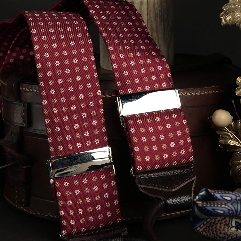 Brick Red Madder Silk Braces