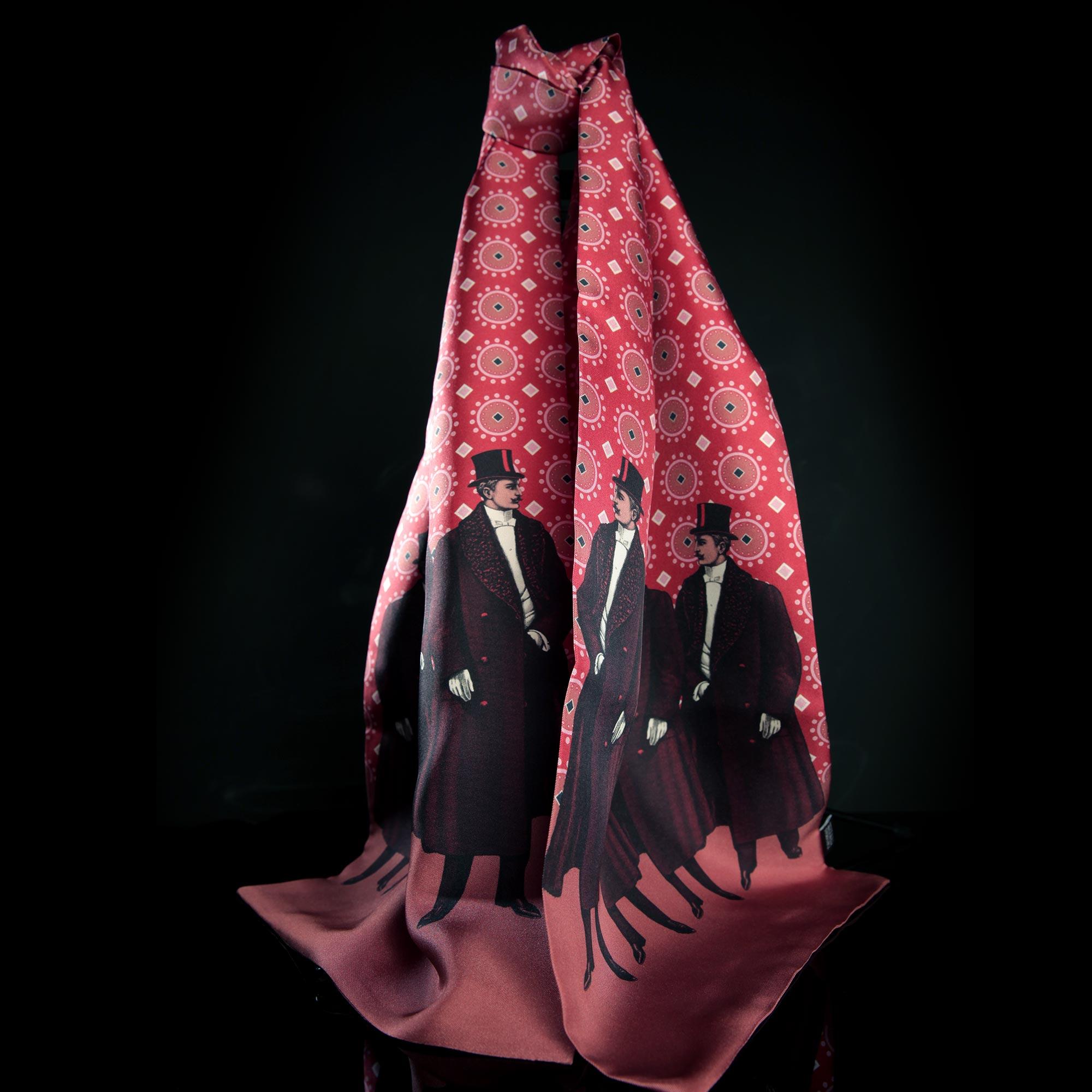 Oscar Red Silk Twill Scarf