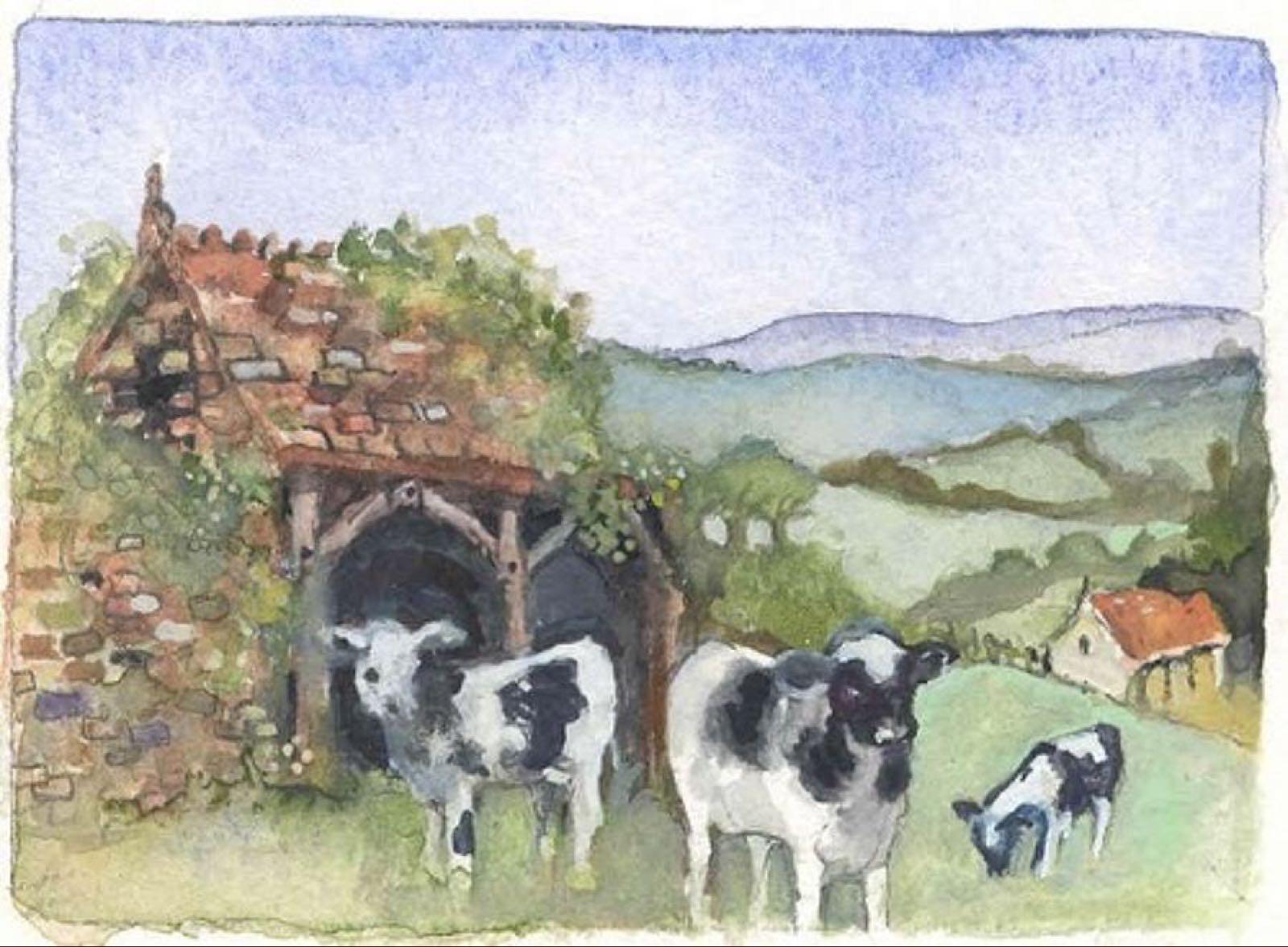 'Inquisitive Calves' Furzedown Gallery Mini Card