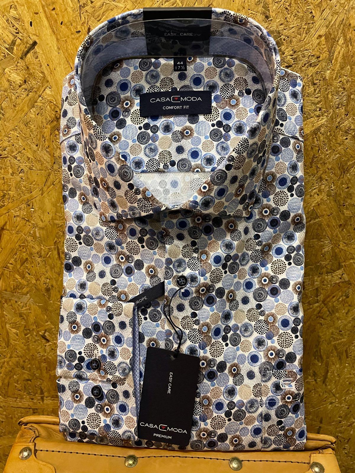 Casa Moda l/æ skjorte mønstret