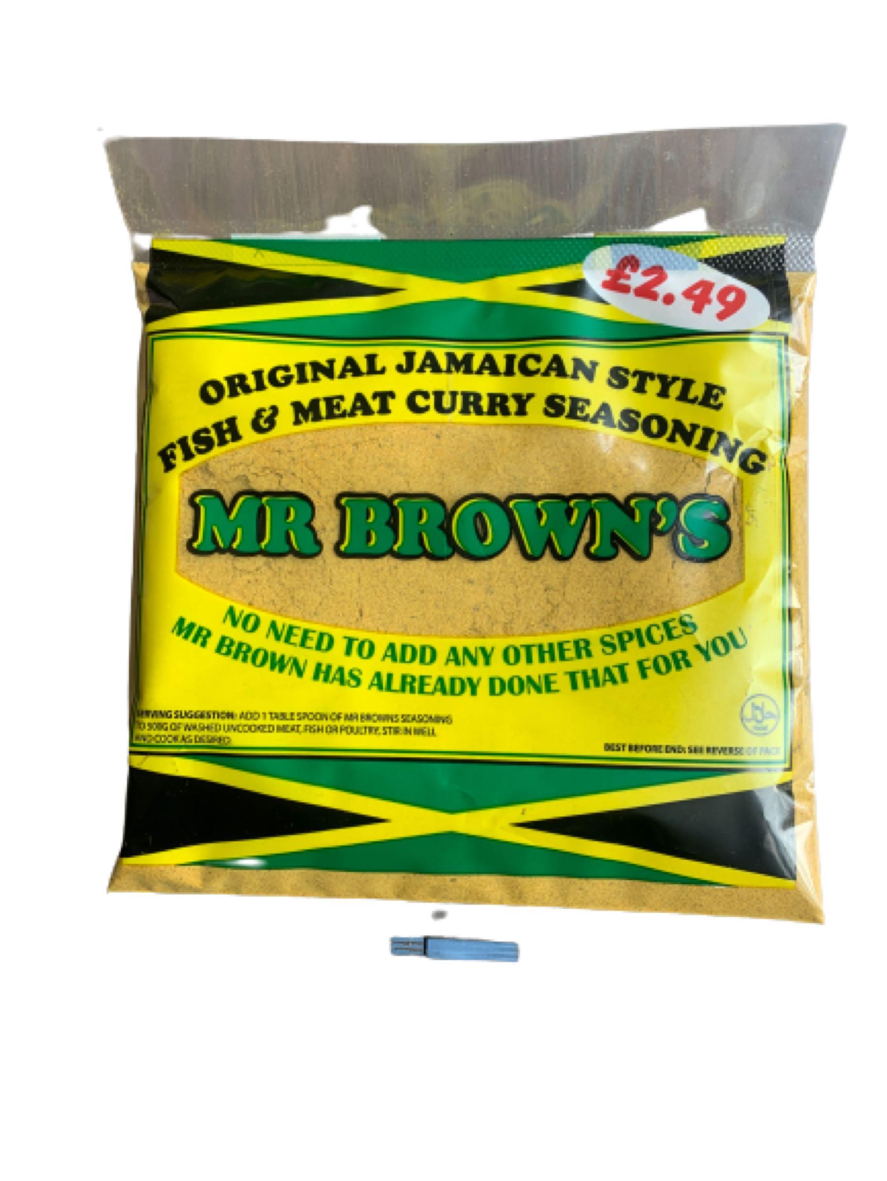 Mr Brown's  Fish &  Meat Curry Seasoning