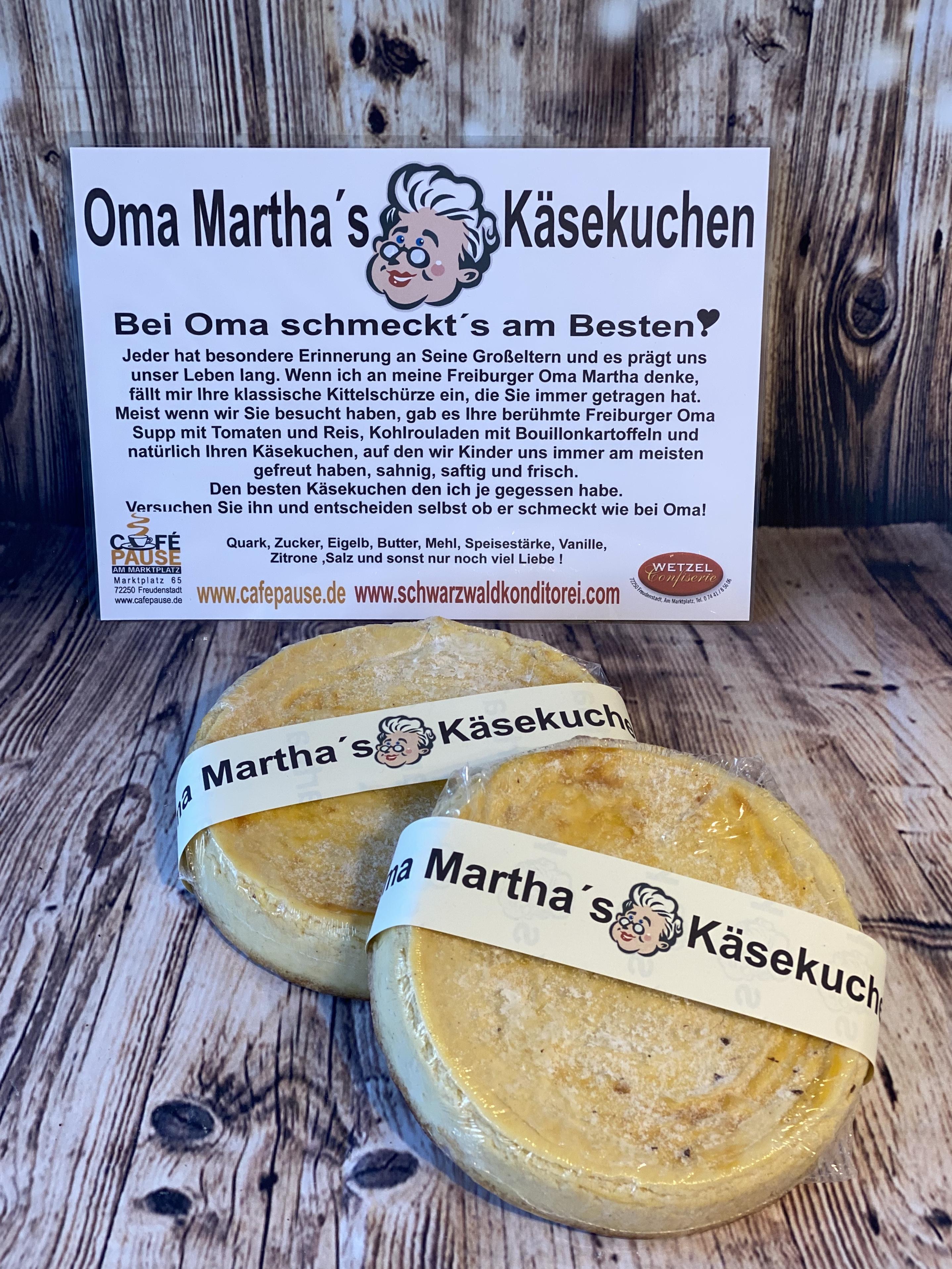 Oma Martha's Käsekuchen
