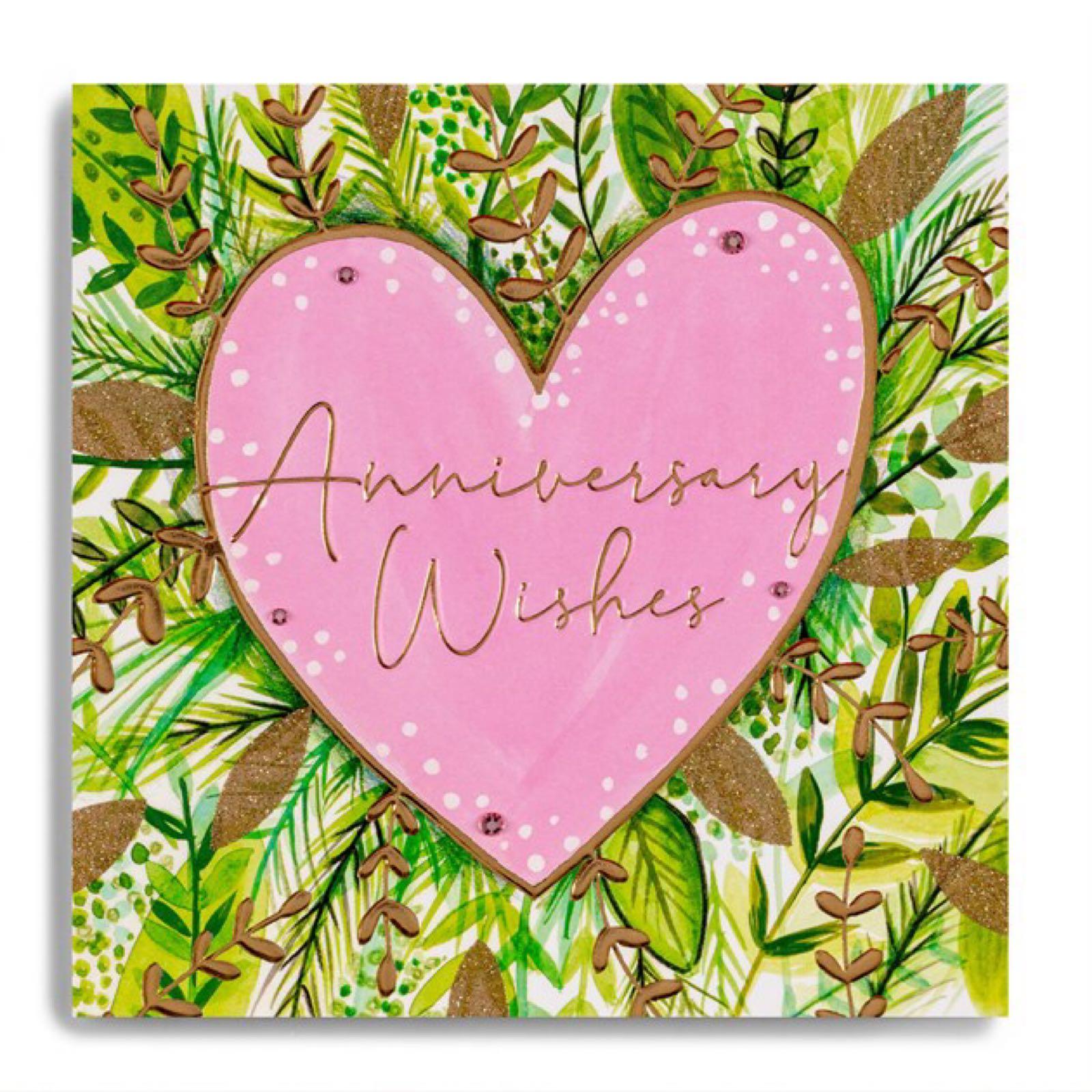 Janie Wilson anniversary wishes card
