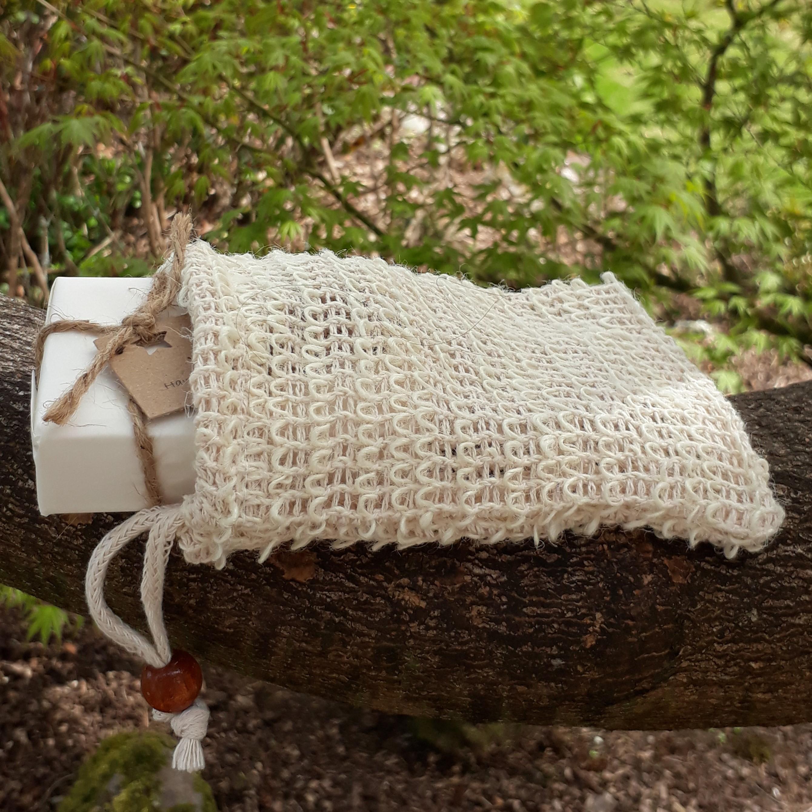 Natural Fibre Soap Bag - Sisal