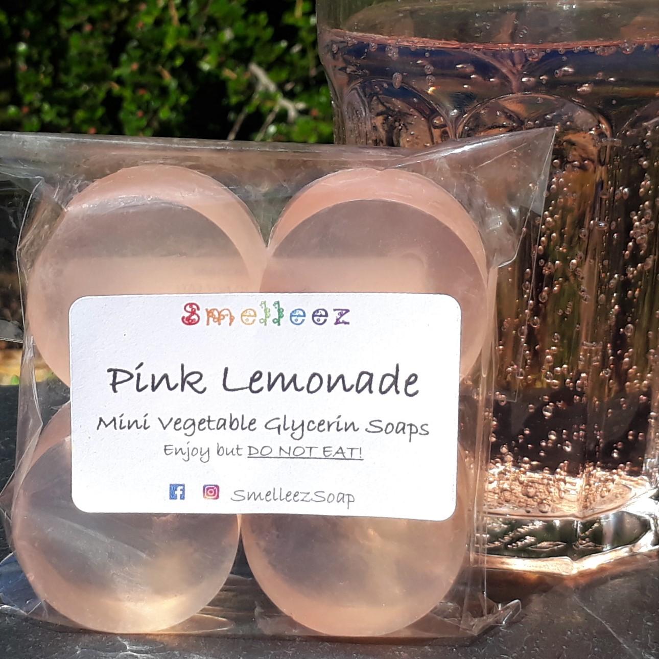 Mini Vegetable Glycerin Soap Bars (Pink Lemonade)