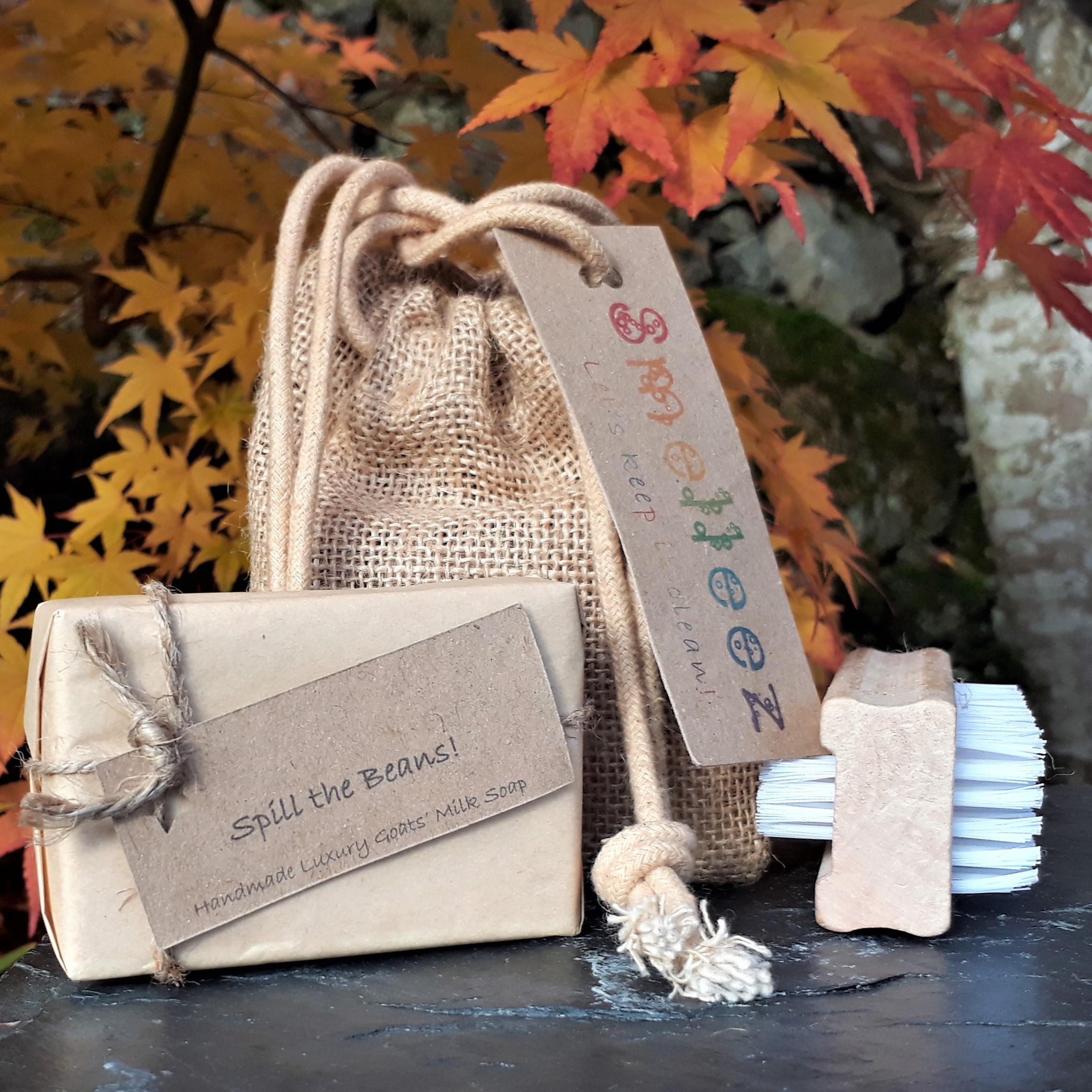 Small Jute Drawstring Bag Gift Set
