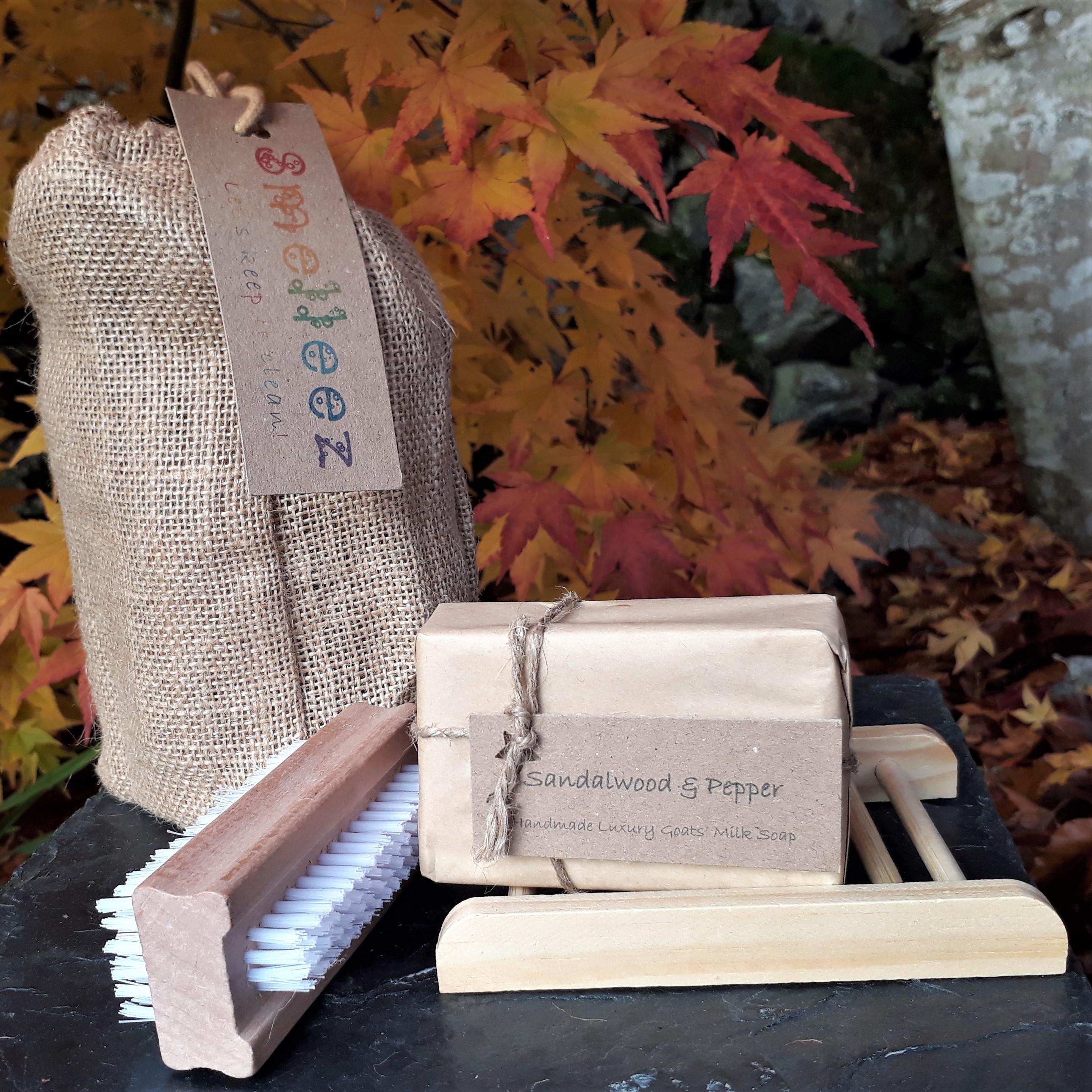 Medium Jute Drawstring Bag Gift Set