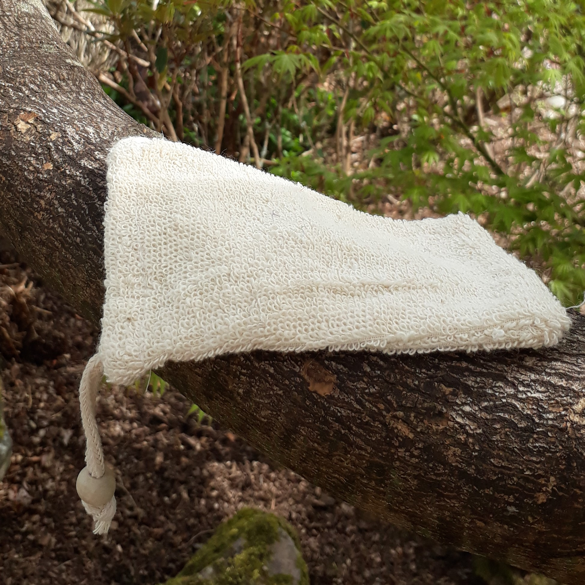 Natural Fibre Soap Bag - Ramie