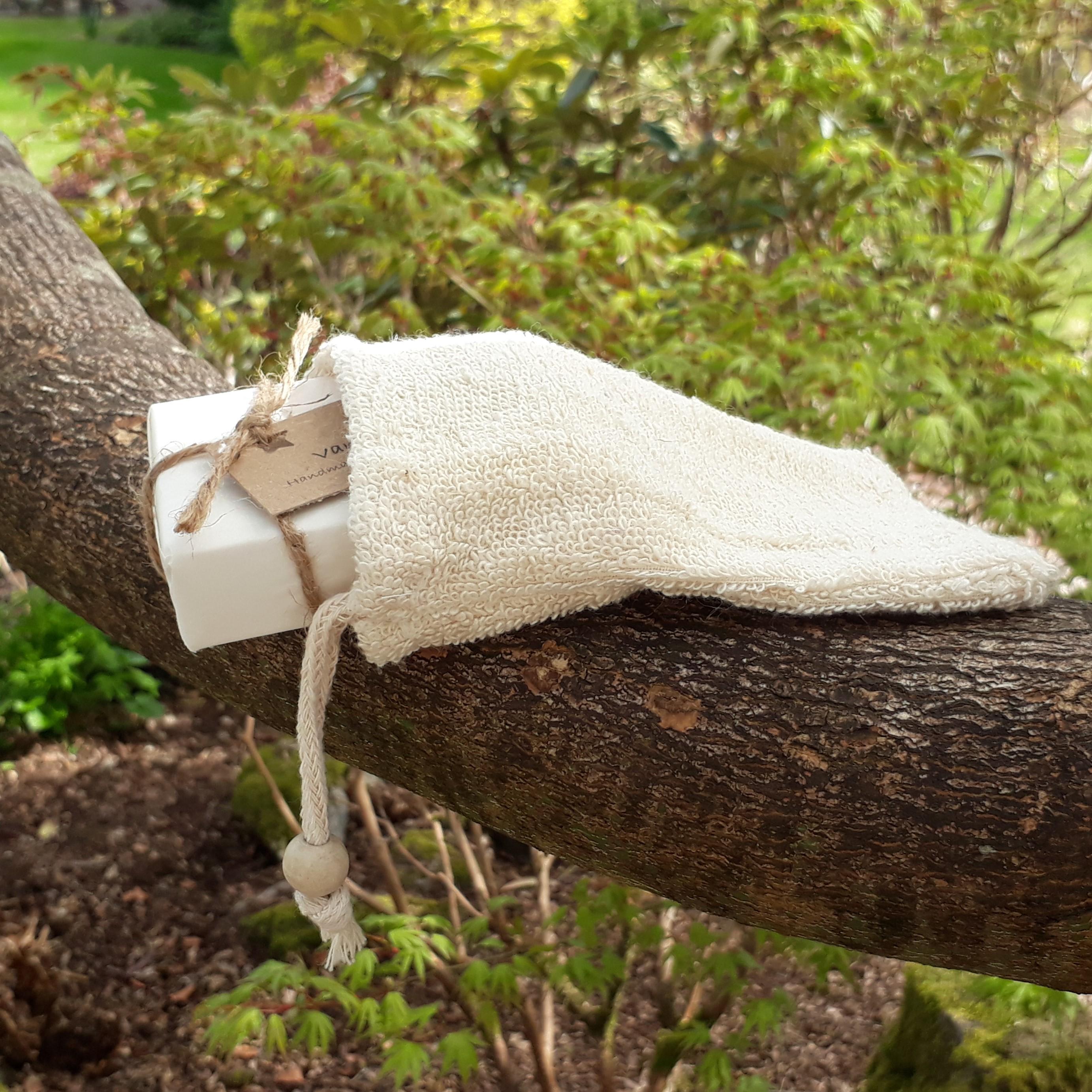 Natural Fibre Soap Bag - Ramie