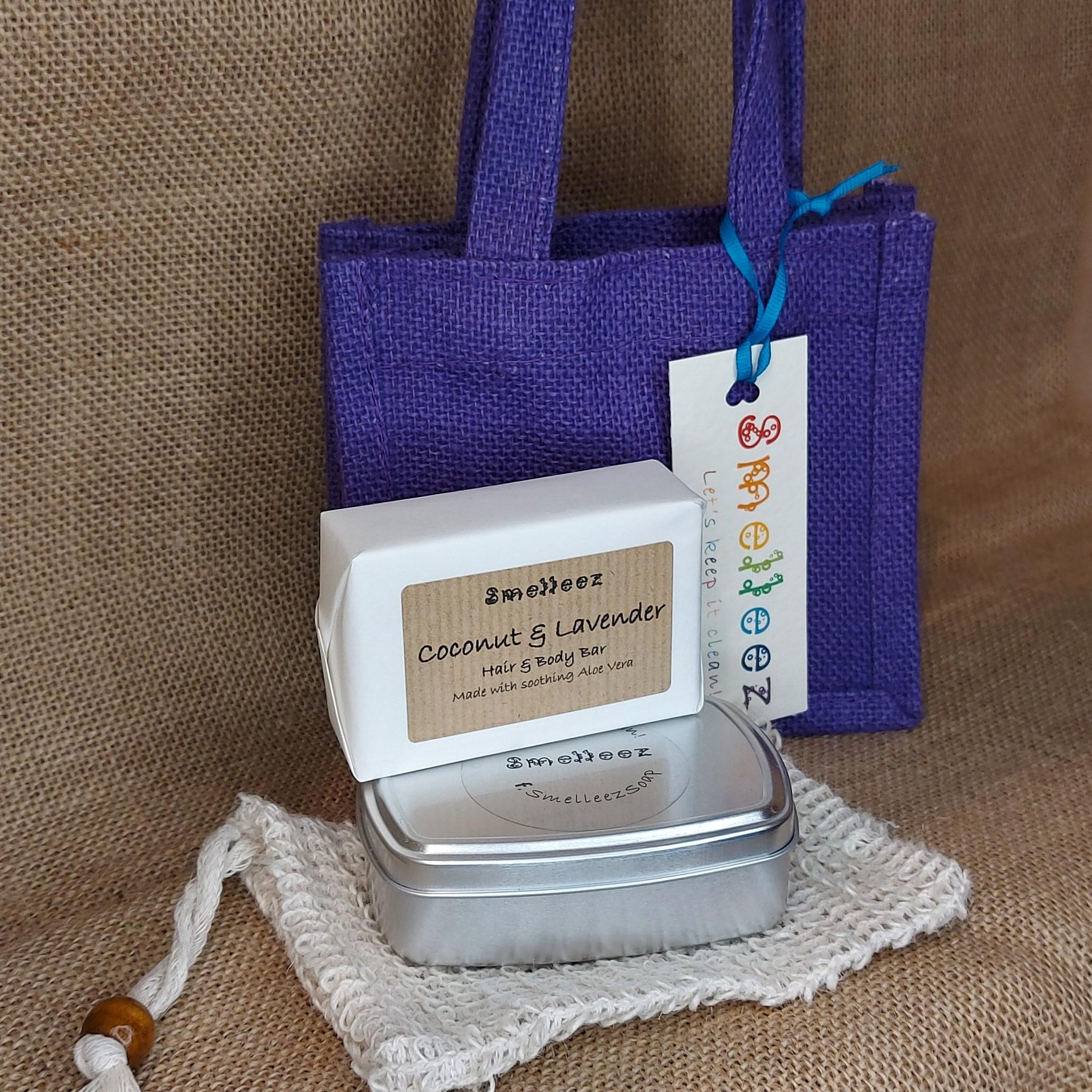 Mini Jute Bag Travel Set