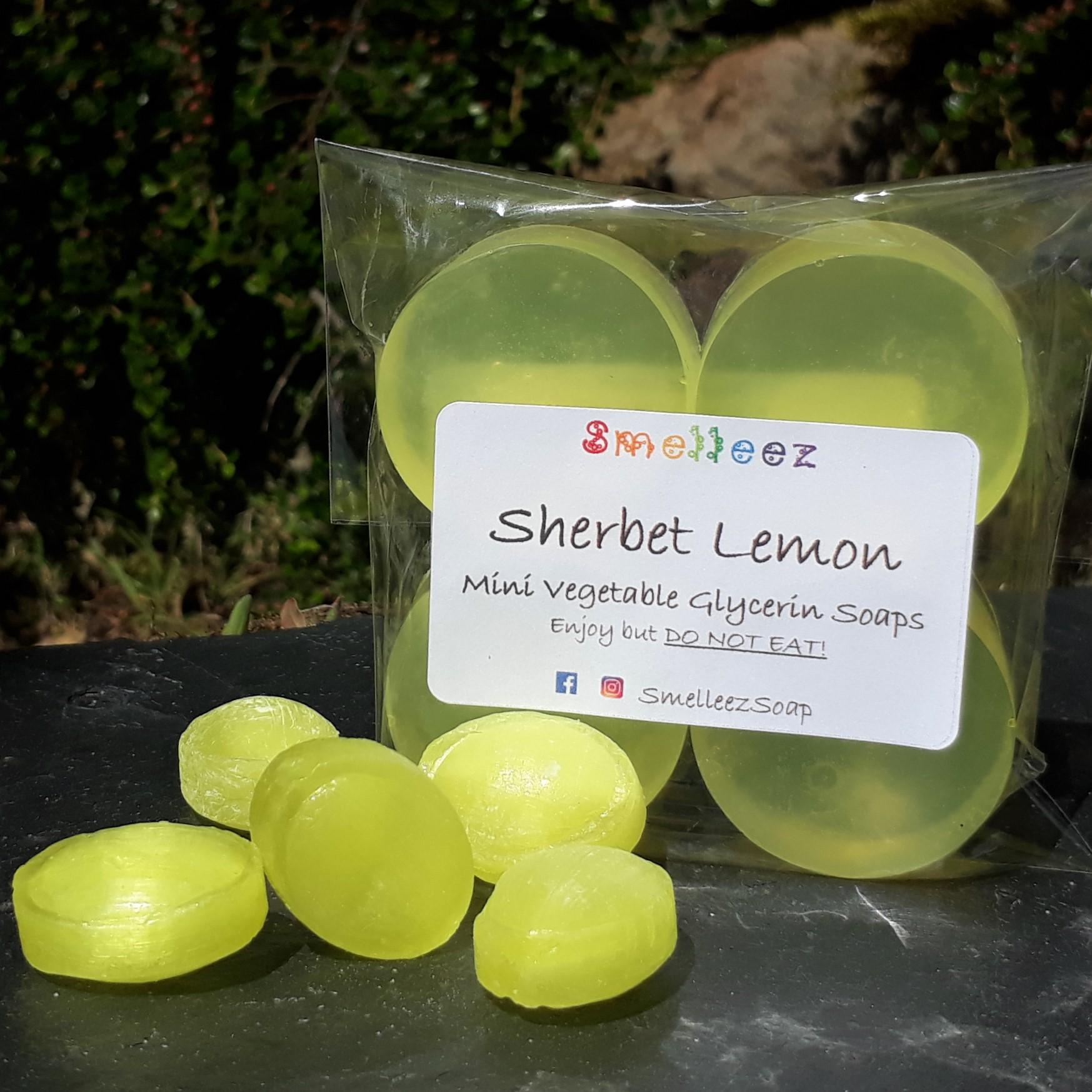 Mini Vegetable Glycerin Soap Bars (Sherbet Lemon)