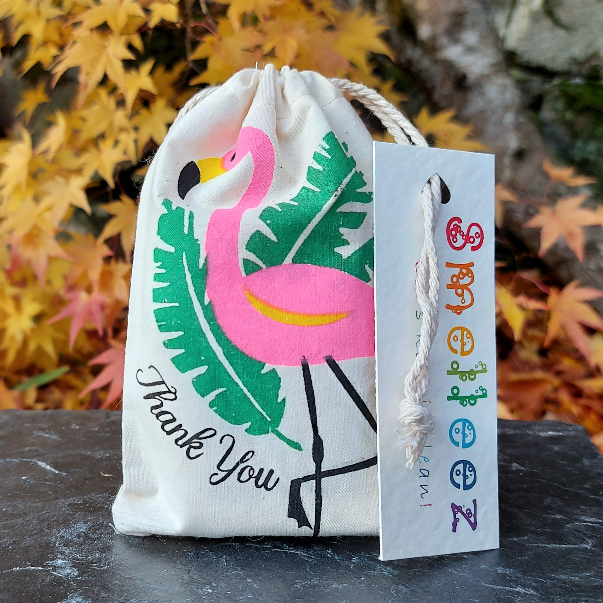 Cotton Drawstring Thank you Gift Bag