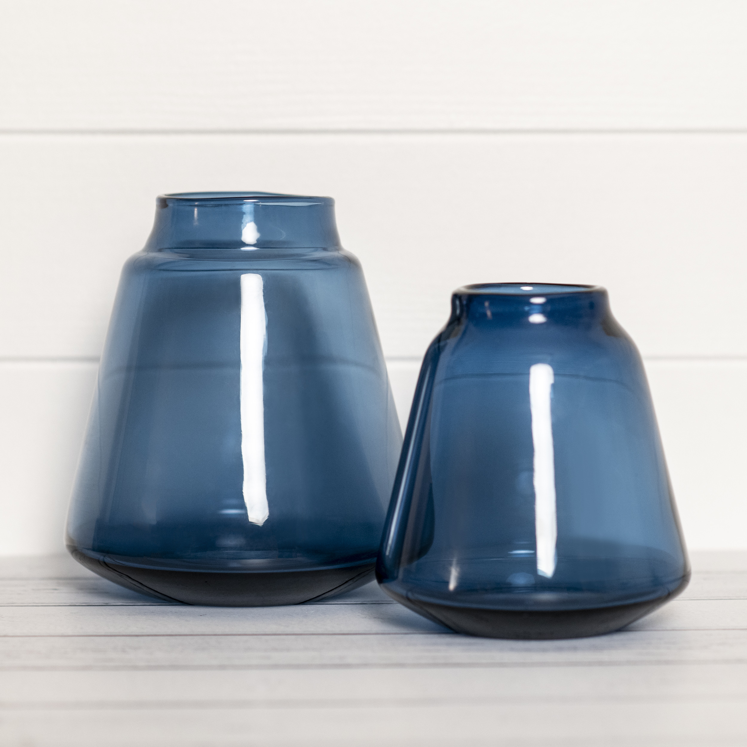 Blue Glass Vase Large