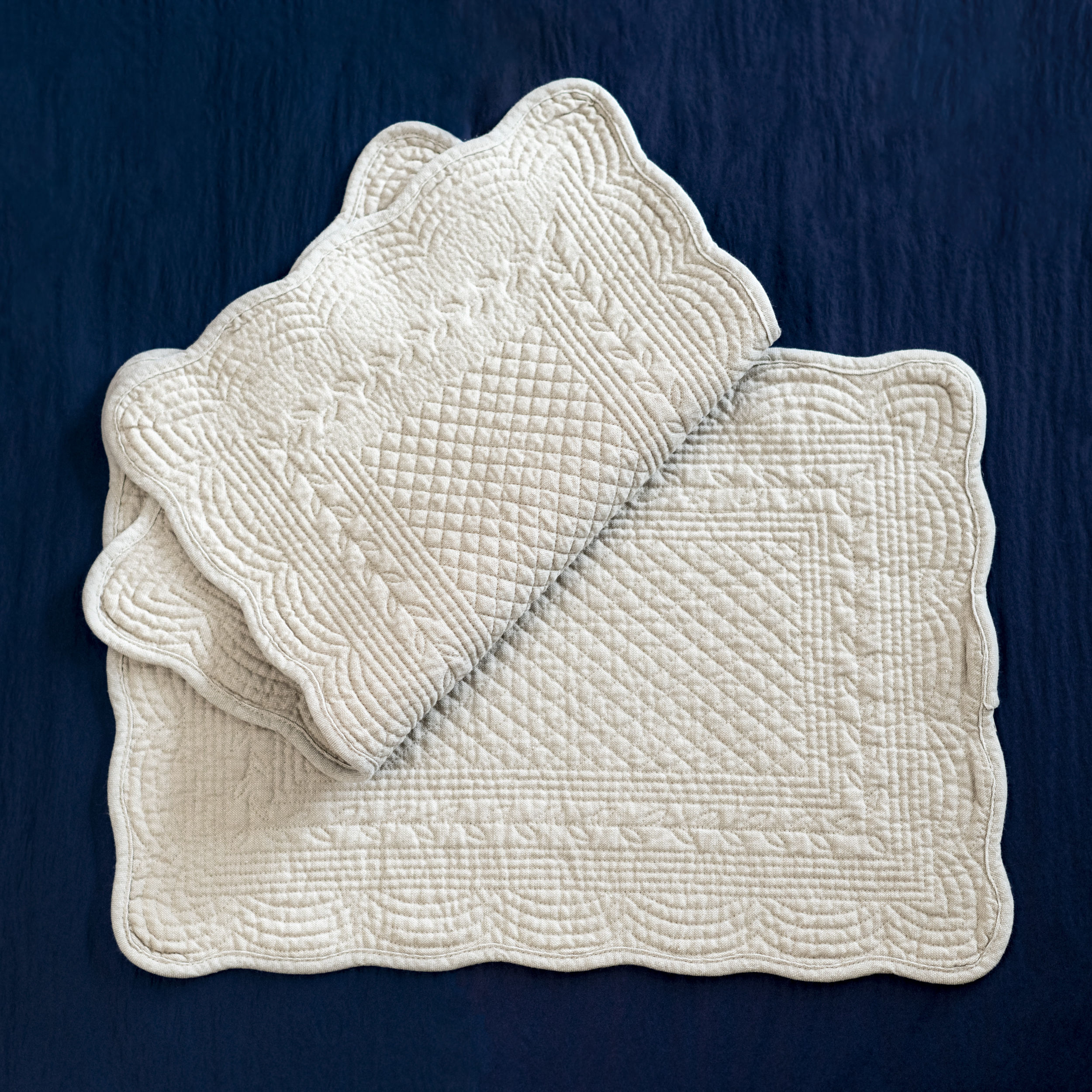Taupe Quilted Cotton Placemat