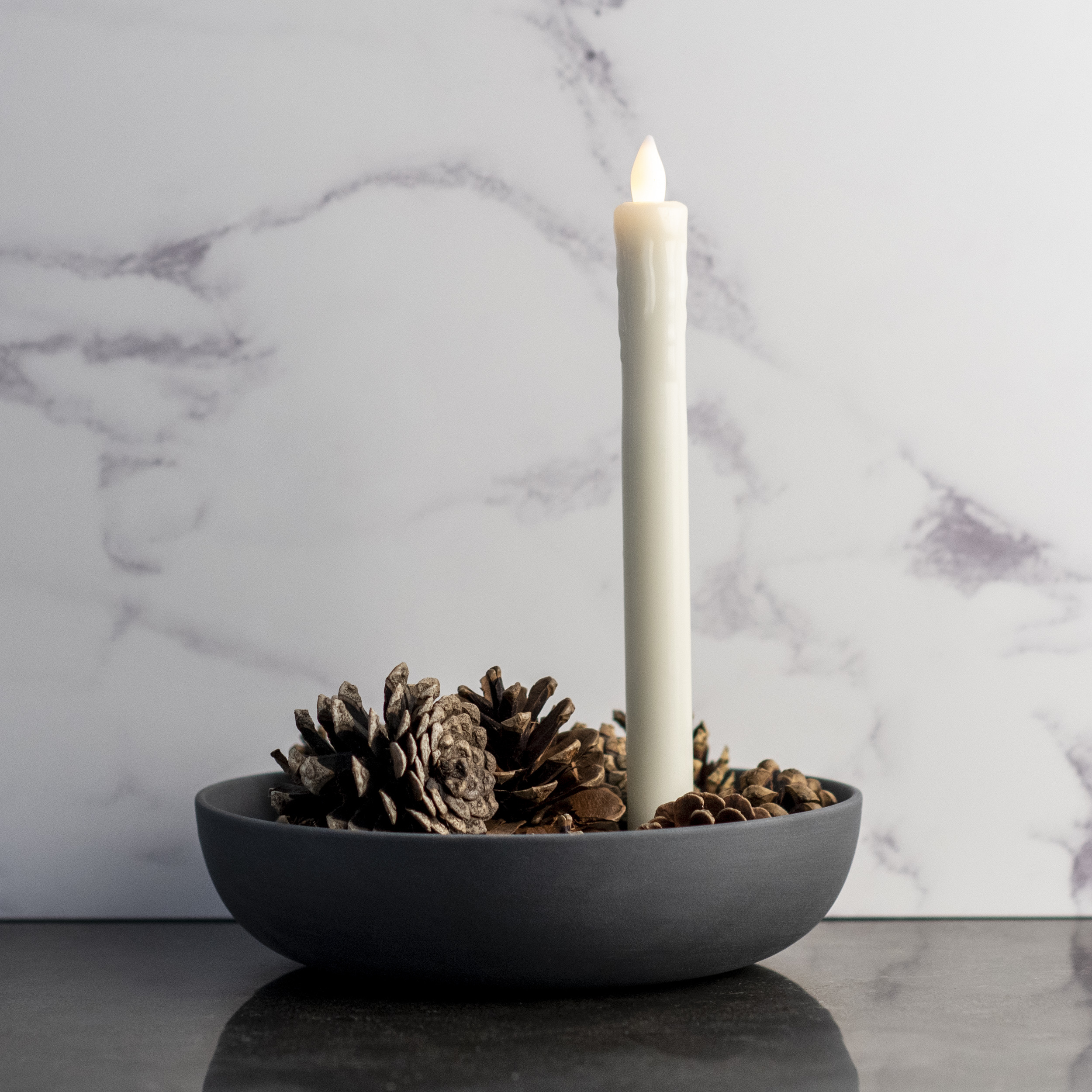Aery Orbital Black Candle Holder - Large