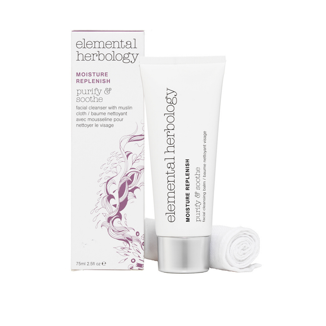 Elemental Herbology Purify & Soothe -Facial Cleansing Balm (Includes muslin cloth)