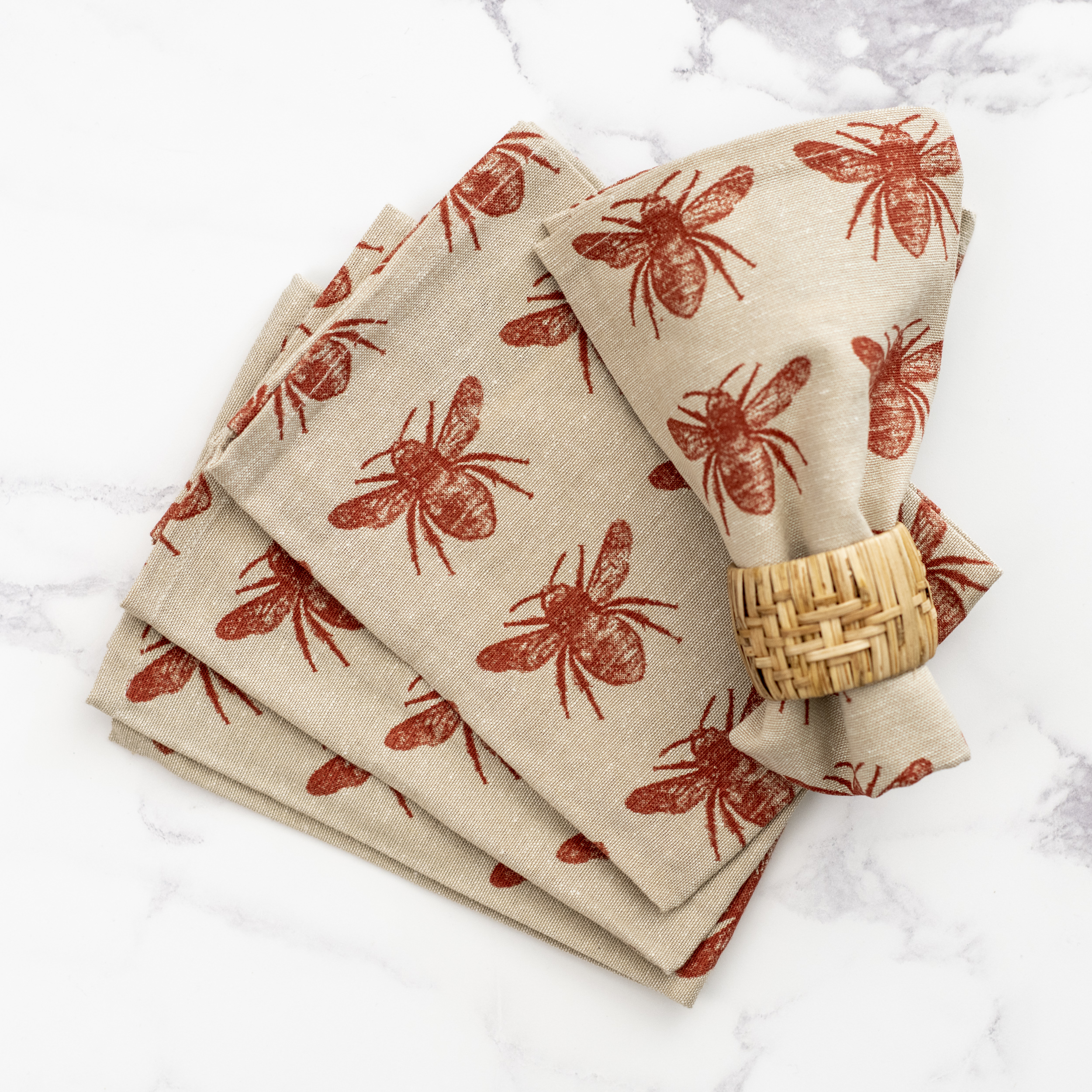 Napkins: Terracotta Bee - Set of 4