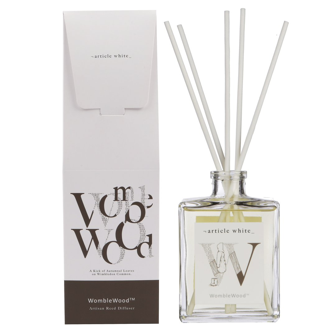 Article White 'Womble Wood' Reed Diffuser