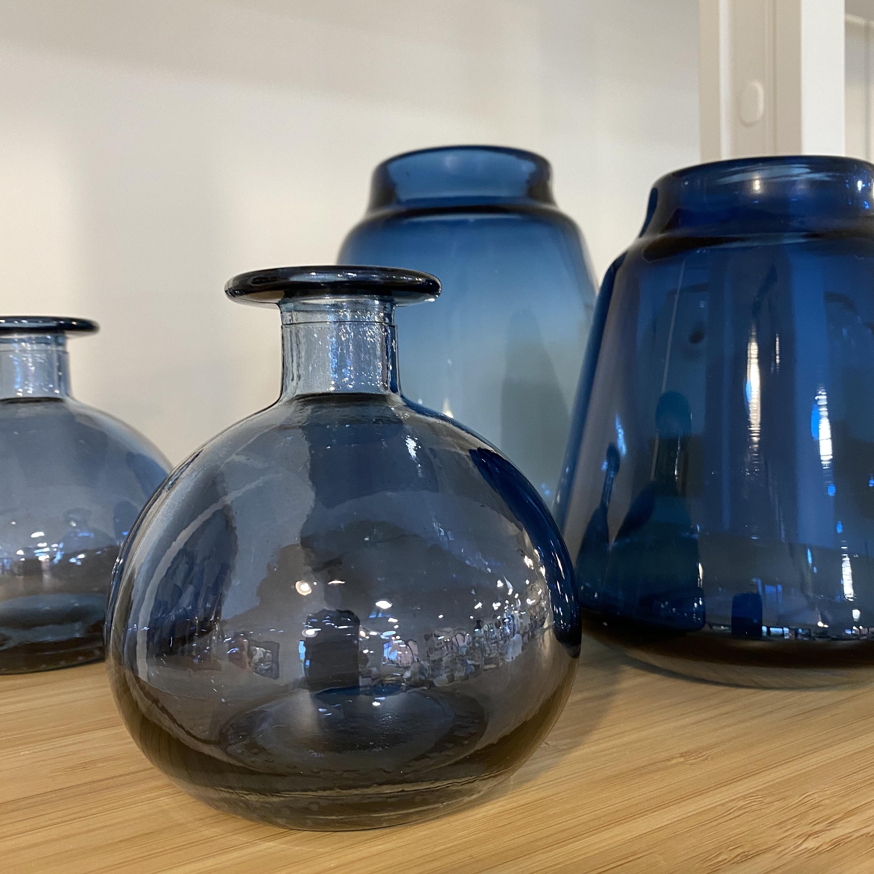 Blue Glass Bud Vase