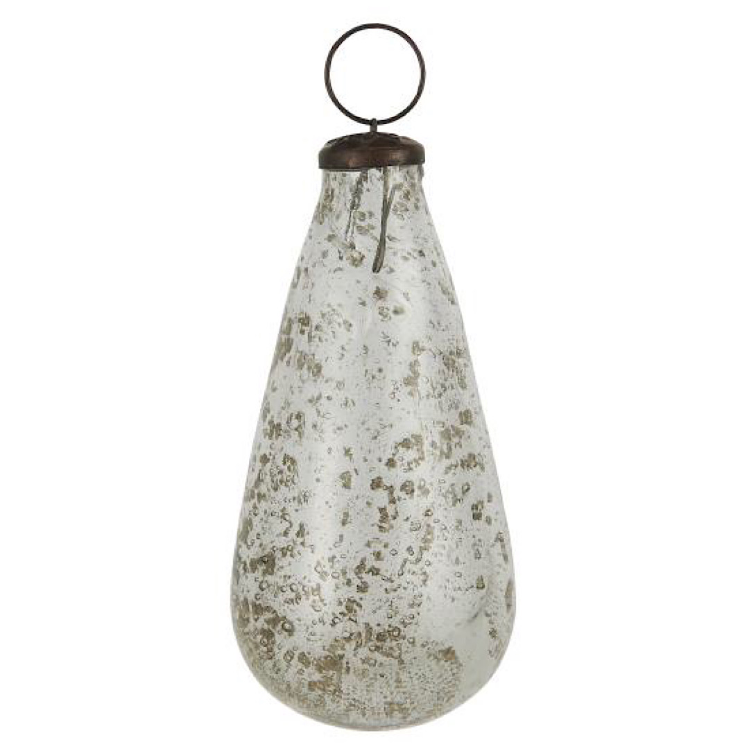 Glass Clear Drop Bauble