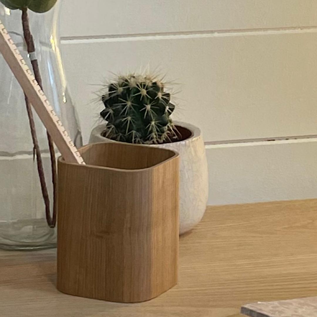 Wooden Pen Pot
