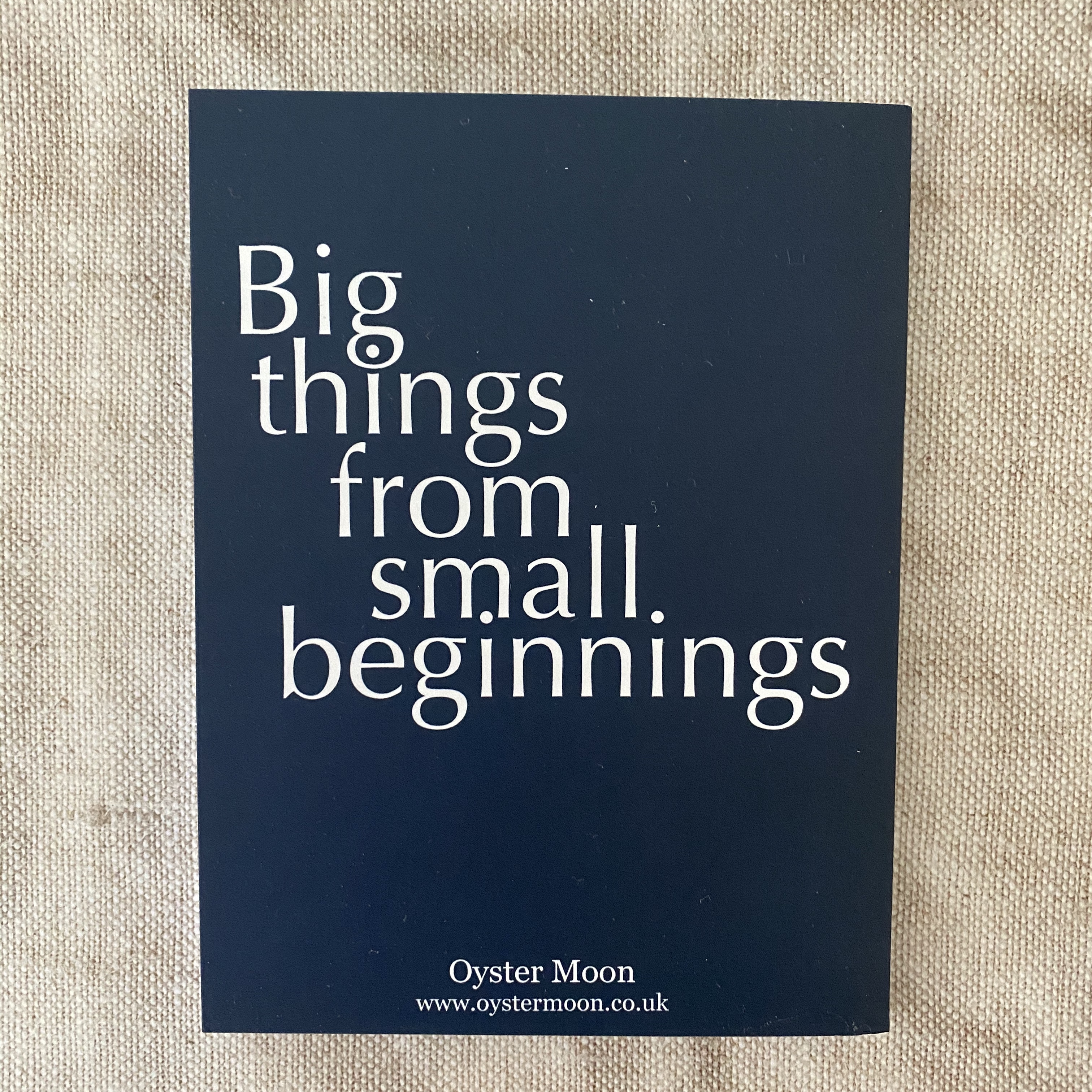 Big Things From Small Beginnings Notebook