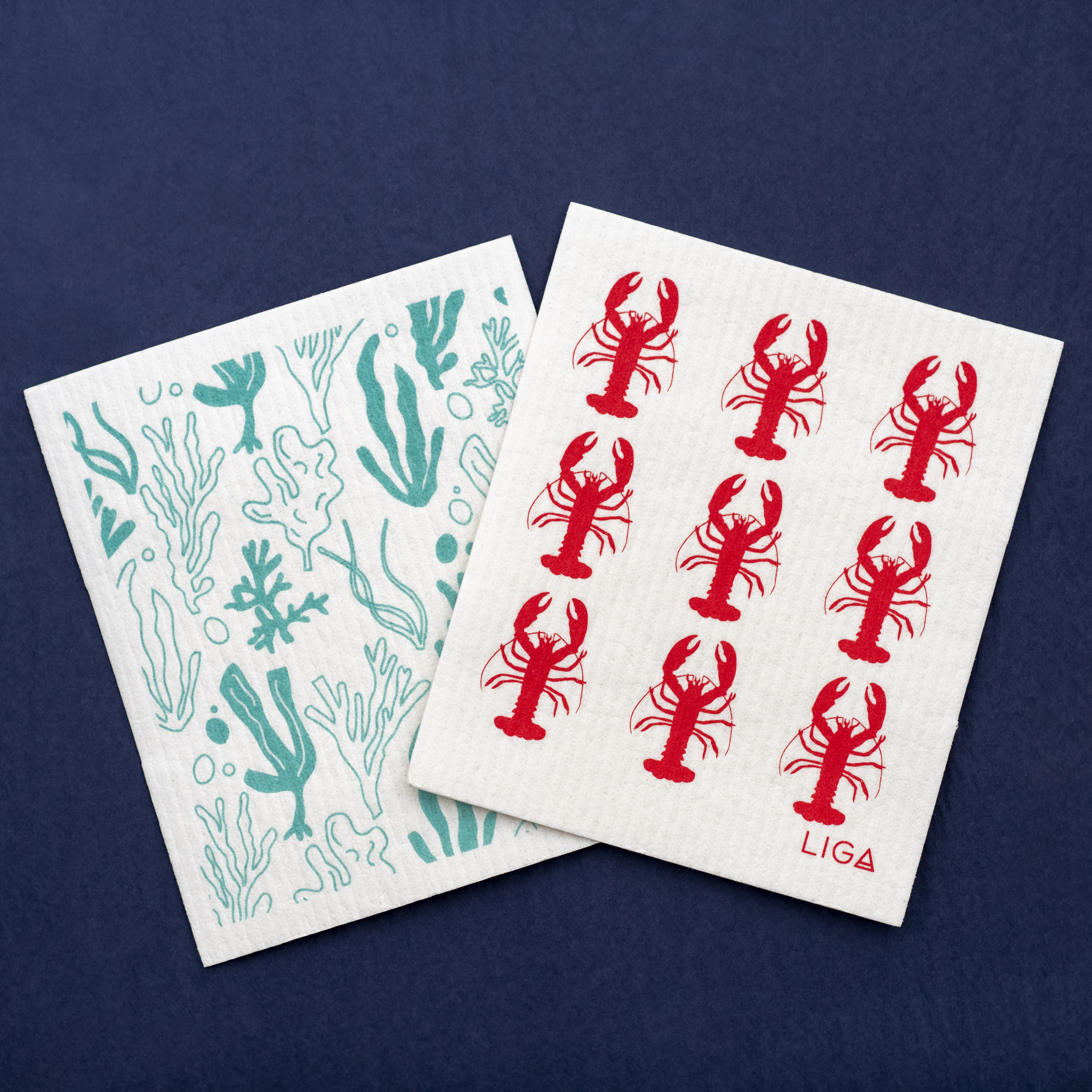 Eco Dishcloths - Seaweed And Lobster