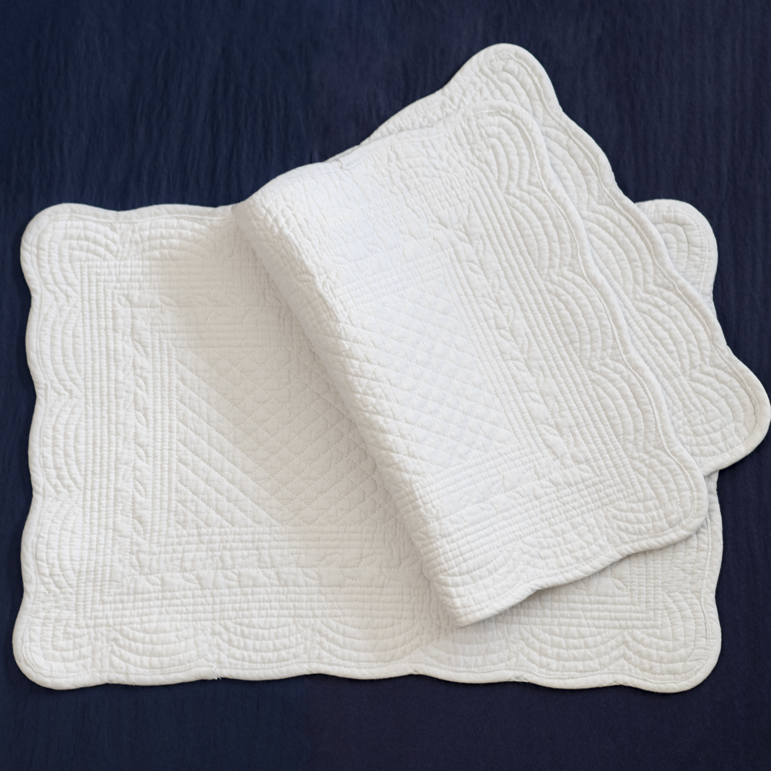 White Quilted Cotton Placemat