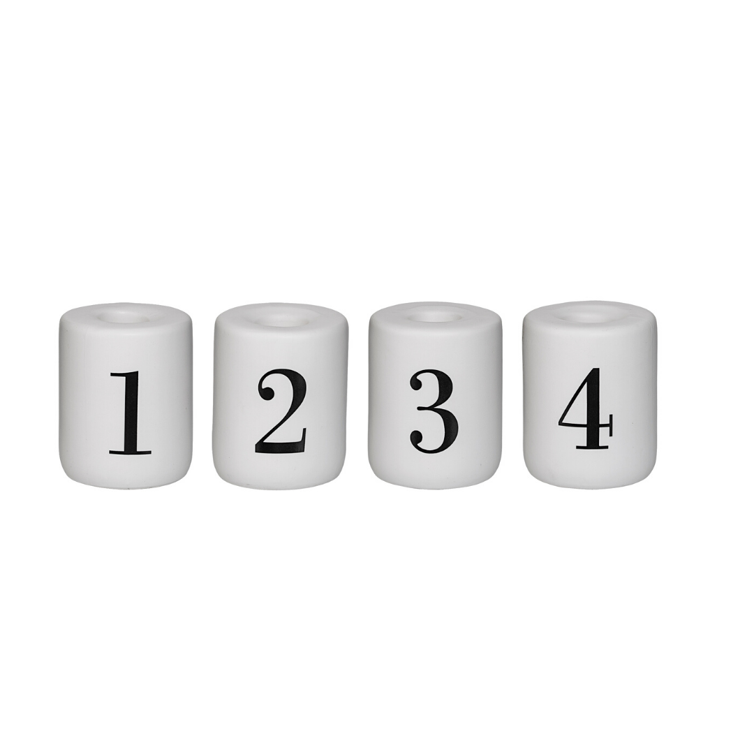 Advent Numbered Candle Holder Set