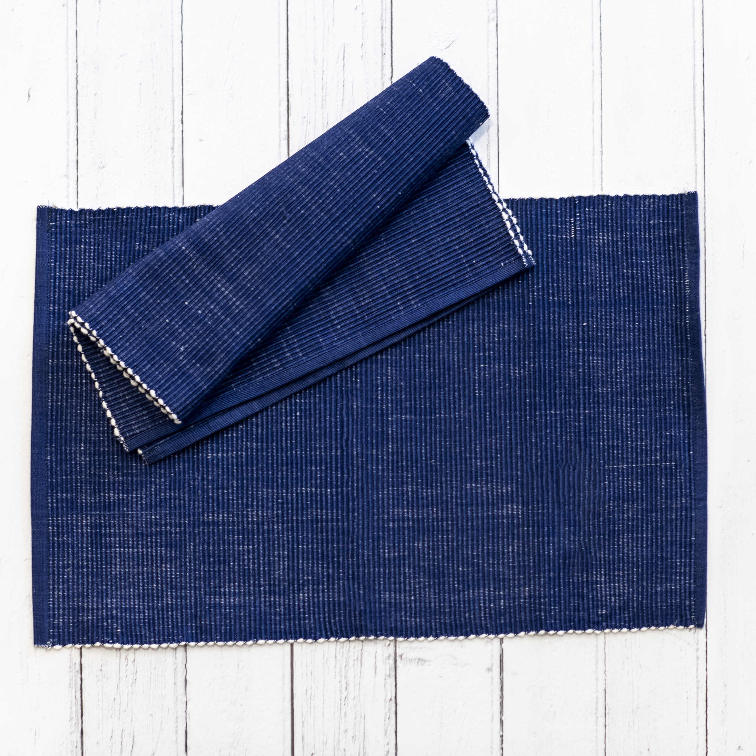 Ribbed Indigo Placemat