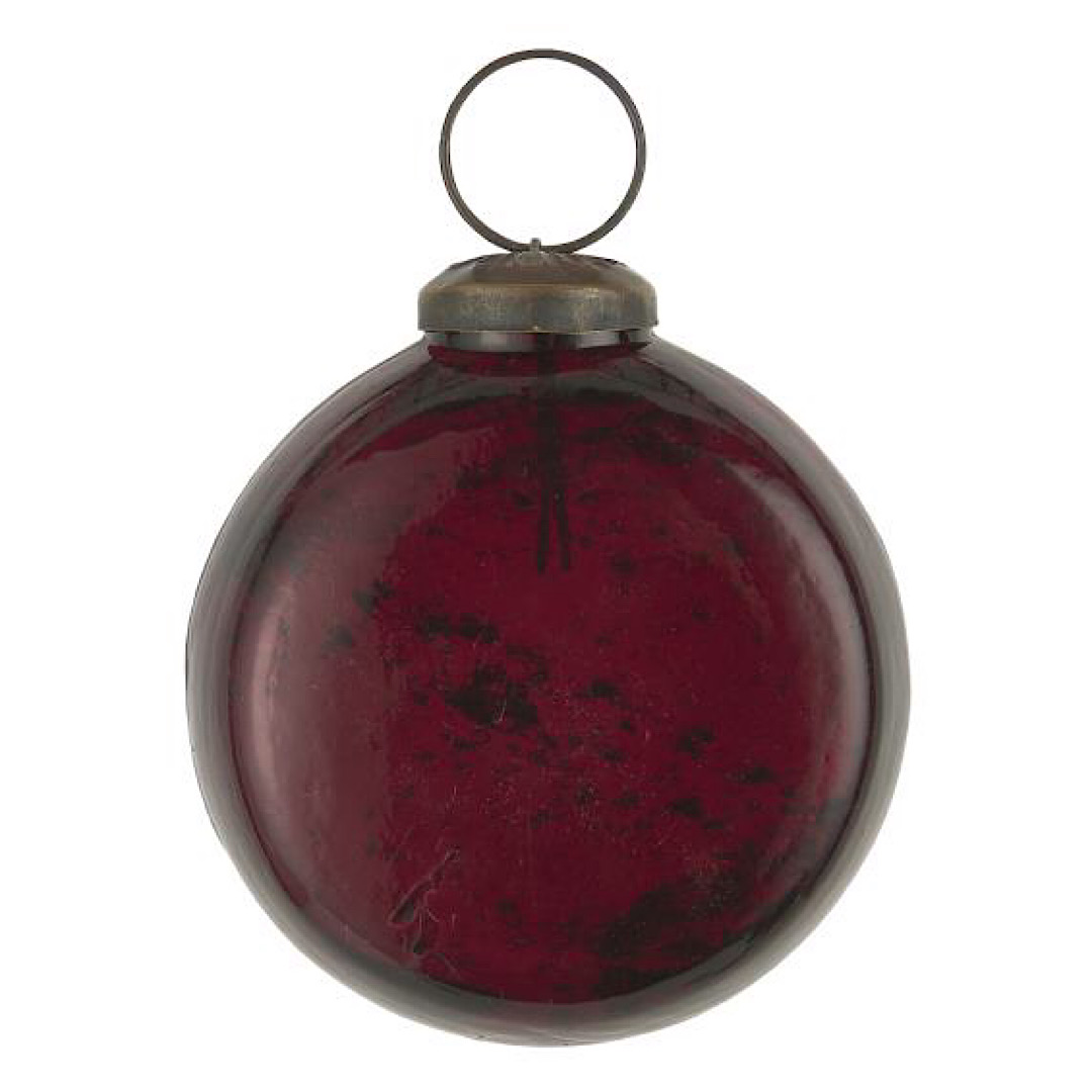 Glass Red Flat Bauble