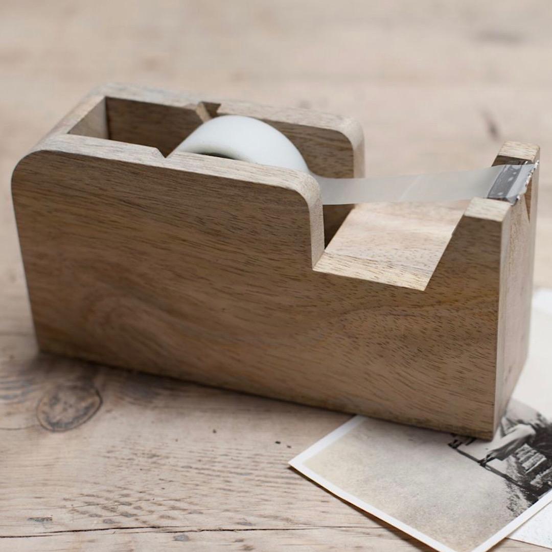 Hansa Wooden Tape Dispenser