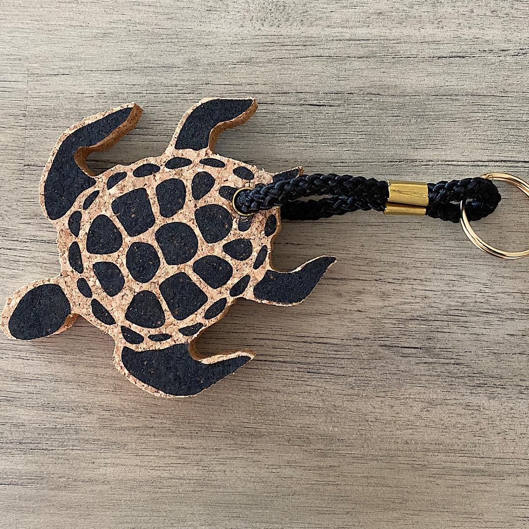 Cork Turtle Keyring