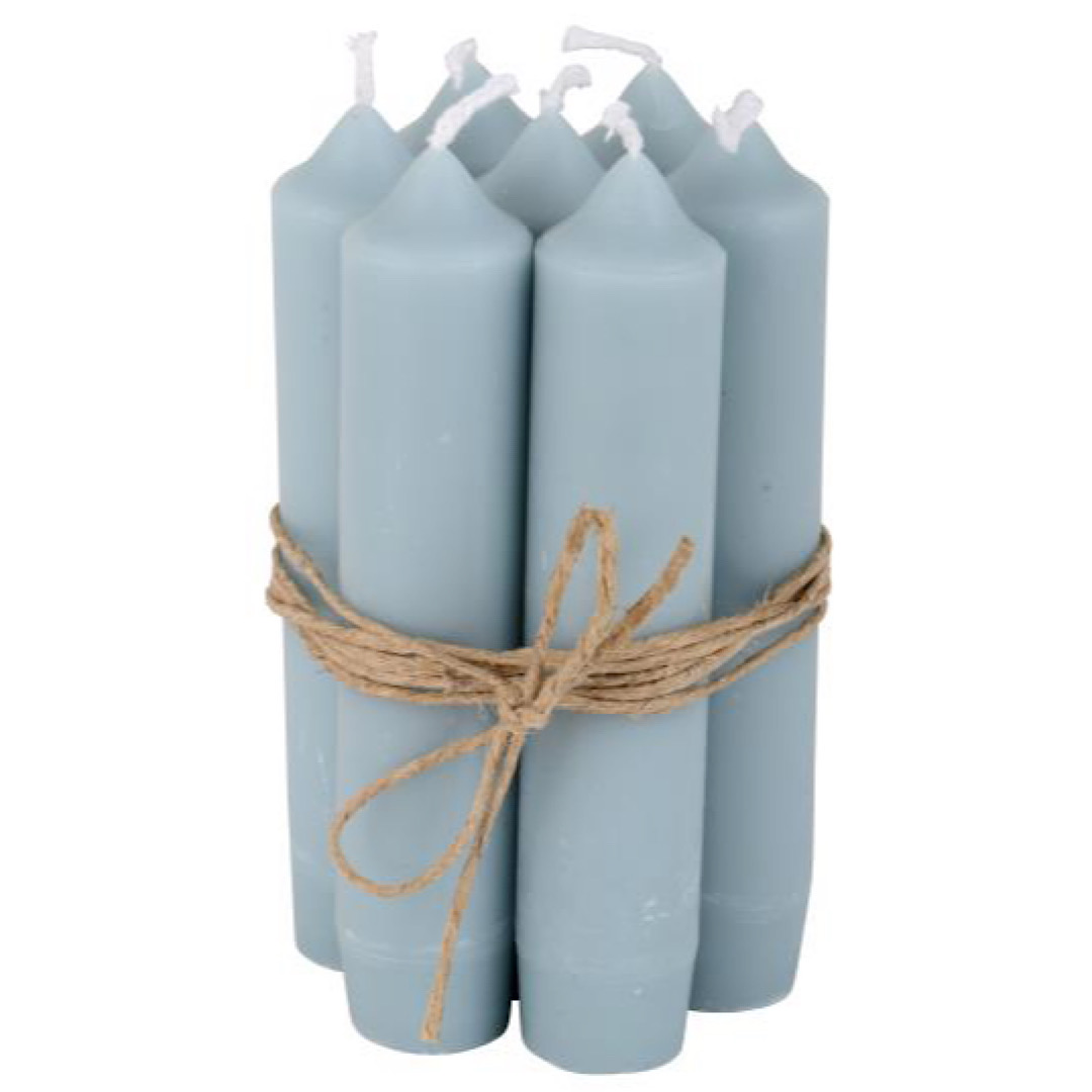 Small Light Blue Dinner Candle
