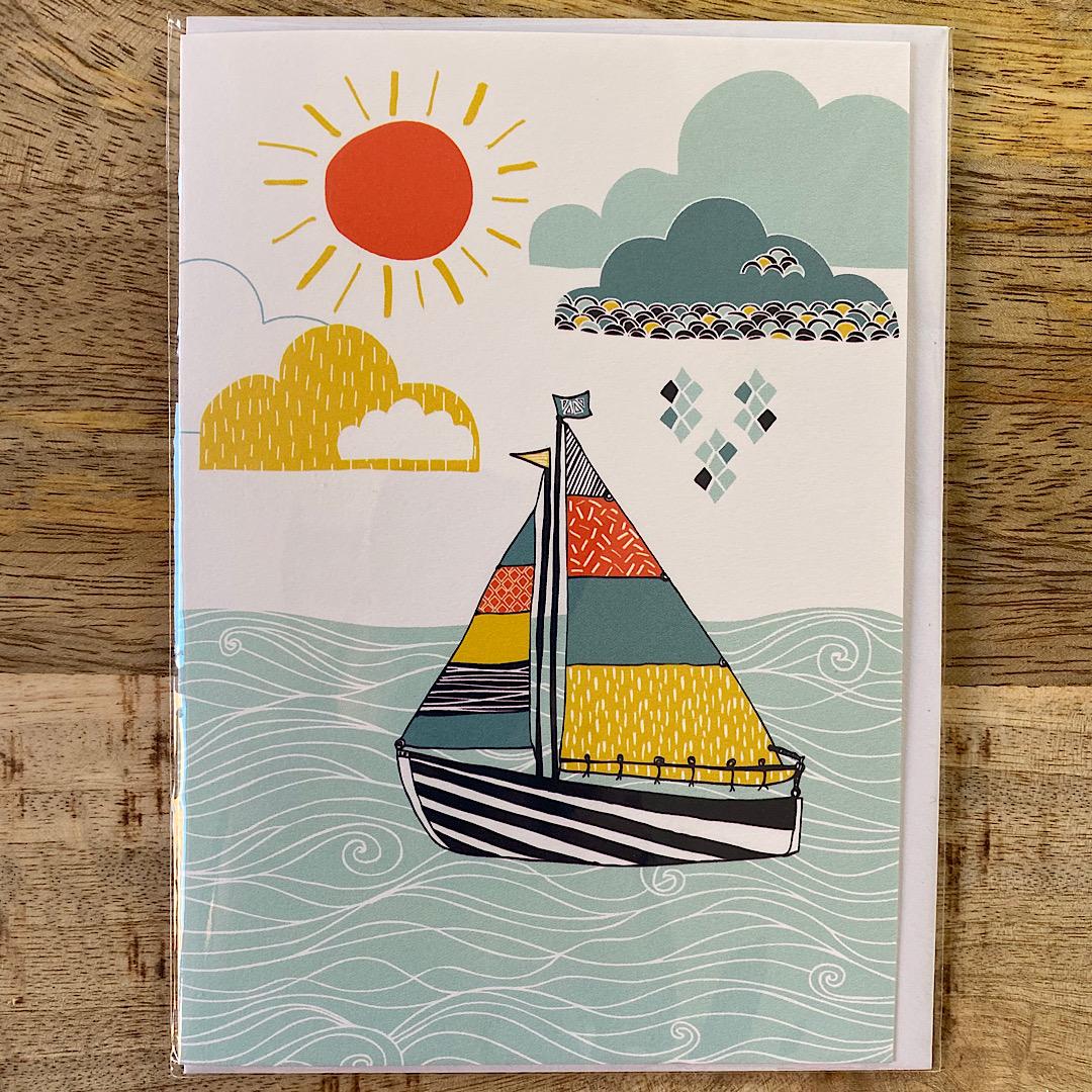 Jessica Hogarth - Sailboat in Sun Card