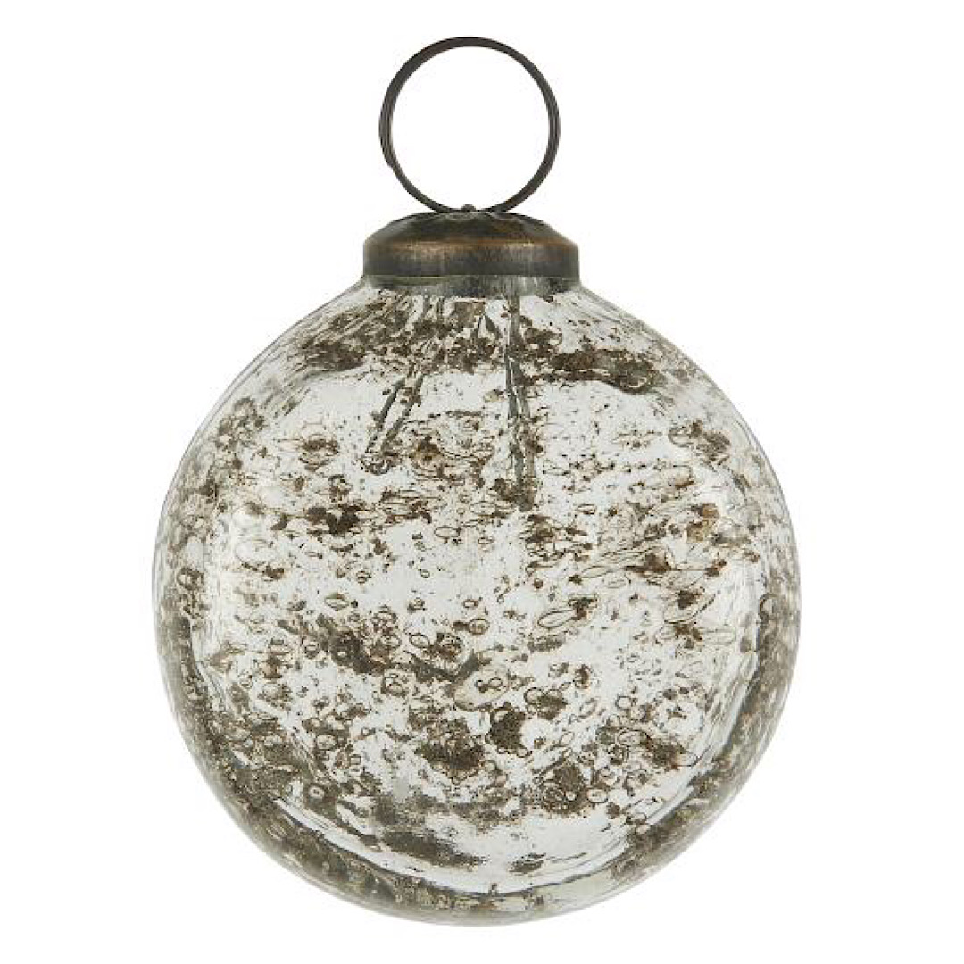 Glass Clear Flat Bauble