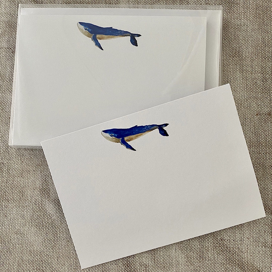 Blue Whale Correspondence Cards
