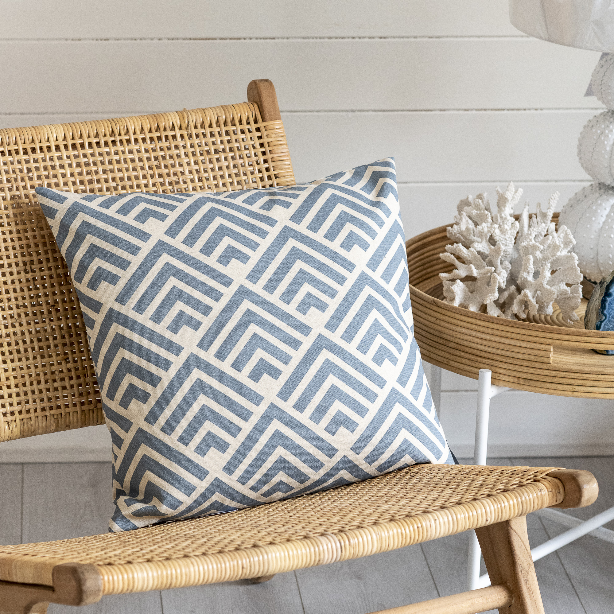 Blue Aztec Design Cushion