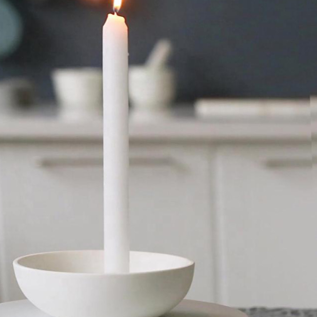Aery Orbital Candle Holder - White